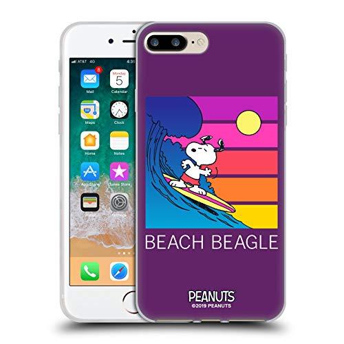 Head Case Designs Licenza Ufficiale Peanuts Beagle Spiaggia Snoopy Aloha Disco Cover in Morbido Gel Compatibile con Apple iPhone 7 Plus/iPhone 8 Plus