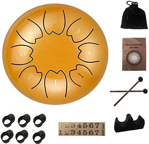 Kefeier Alloy Small Steel Tongue Drum kits Yoga Calm Meditation toy Stress Relief Spiritual product image