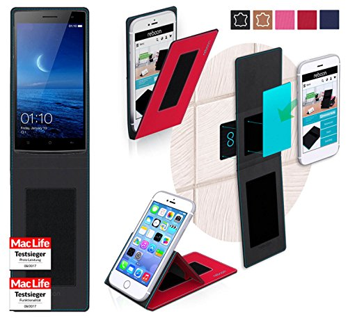 reboon Hülle für Oppo Find 7a Tasche Cover Case Bumper   Rot   Testsieger
