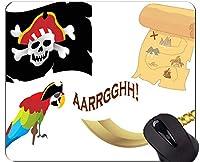 滑り止めのコンパスのマウスパッドの滑り止め、ステッチの端が付いている古代コンパスの海賊船のマウスパッド