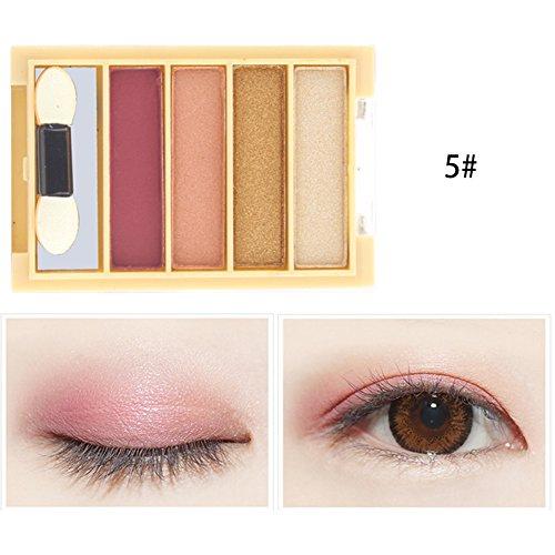 iShine 4 Couleurs Palettes Fard à Paupières Palettes de Maquillage Matte Shimmer Eyeshadow Plaque d'Ombre à Paupières Teinte Nacrée Durable Cosmétique Maquillage d'oeil