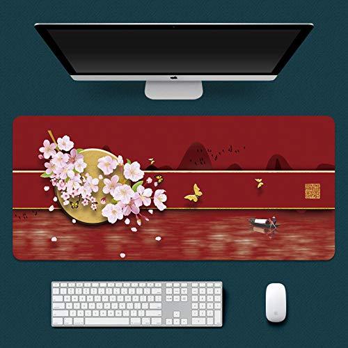 yinying Alfombrilla de ratón para Juegos,Alfombrilla de ratón Impermeable, Alfombrilla de Escritorio Retro de la Cultura China-Antigüedad 6_800x300mm_3 mm