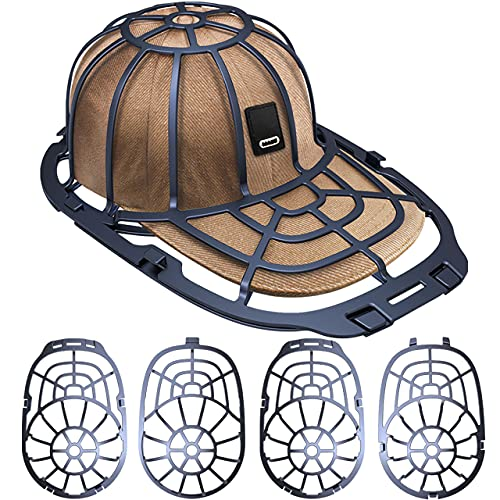 Eiito Hat washer for Washing machcine, 2 Pack Hat Cleaner for Baseball Caps Hat Shaper for Dishwasher, 2 Sizes-4 Pcs Hat Cage Rack Frame fit Adult and Children Wash Caps