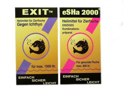 Aquarium Rio Heilmittel Set für Zierfische Esha Exit 20ml & Esha 2000 20ml