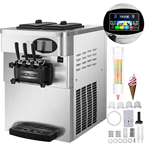 Why Should You Buy ZTBXQ Home Appliances Kitchen Tools Commercial Soft Ice Cream Machine 2200W Count...