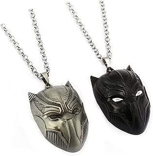 2pcs Black Panther Necklace Wakanda King Cosplay Necklace Pendant