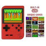 Handheld Spielkonsole,Retro Mini Handkonsole Wiederaufladbar Spiele Konsole Videospielkonsole,FC 400 klassischen Spielen,3inch LCD Bildschirm