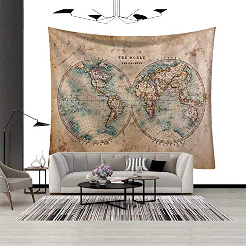 WANGNIU World Map Wall Tapestry Wall Hanging Mandala/Psychedelic/Trippy/Tarot Tapestry Wall Decor Room Art Mandala Blanket_5_L(200Cmx150Cm)