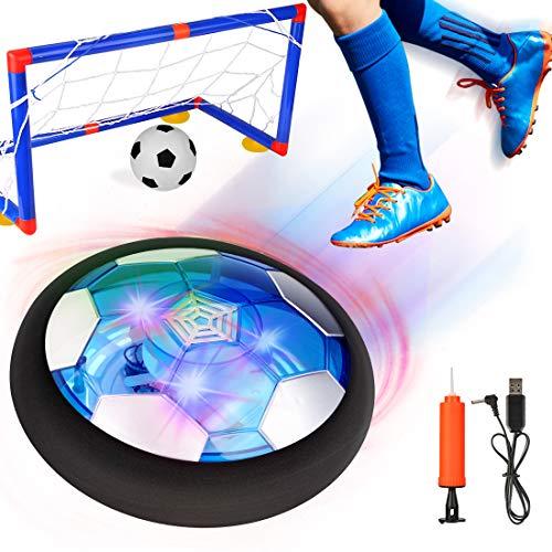 Balón Fútbol Flotant, Air Football, Pelota Futbol con Protectores de Espuma Suave y Luces LED,...