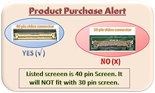 """Hp Stream 11 Replacement LAPTOP LCD Screen 11.6"""" WXGA HD LED DIODE [For 40-Pin Screen ONLY]](Substitute Replacement LCD Screen Only. Not a Laptop ) (11-D010NR 11-D010WM)"""
