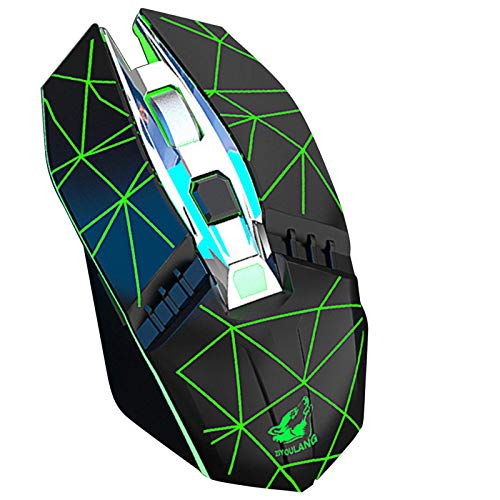 KILISON Kabellose Bluetooth Maus, DREI Modi Maus Wiederaufladbar (BT5.0+BT3.0+2.4G Wireless) Multi-Device Silent Funkmaus für Mac OS/MacBook/Windows/Android/Tablet/PC, Leuchtendes Schwarz