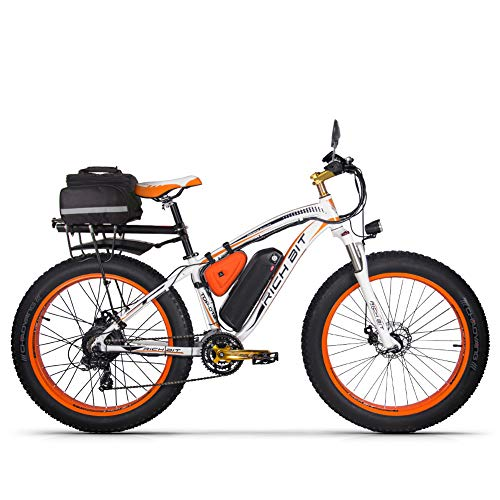 RICH BIT RT022 1000W Elektrofahrrad Smart E-Bike 48V * 17Ah Li-Batterie (Orange Plus)