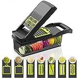 Cortador de manzanas multifuncional cortador de verduras frutas patatas pelador zanahoria rallador accesorios de cocina cesta herramienta de cocina gris claro