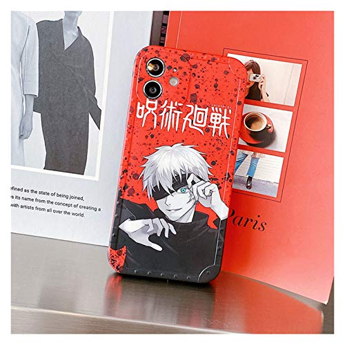 DingHome Anime Dibujos Animados Jujutsu Kaisen Yuji Itatori Fushiguro Megumi Funda telefónica para iPhone 12 11 Pro x XS MAX XR 7 8 Plus Linda Cubierta Suave (Color : 9, Material: : iPhone 12Pro)