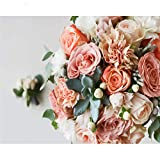 Rose Diy Painting By Numbers Flower Kit de acrílico para colorear Modern Home Wall Art Picture Decoración de la boda 40x50cm