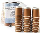 Premium 8 oz Disposable Coffee Cups with Lids (50 Ct) - Use your Coffee Maker at Home then Pour into this Paper Travel Cup, Brew your Own Beans, Steep your Own Tea, Mix Hot Cocoa!