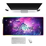 Alfombrilla De Ratón Grande para Juegos RGB Warframe Led Iluminado Debajo De La Mesa De Goma para Teclado De Computadora Portátil De Escritorio 900X400X4Mm A