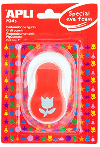 APLI Kids 13299-Perforadora papel y goma EVA tulipán 25,4 mm