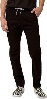 Charles and A Half Black Chino Jogger Pants, Black, Medium