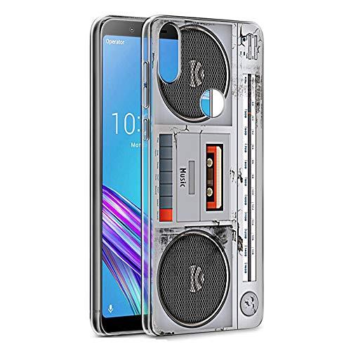 Pnakqil Asus Zenfone Max Pro M1 Cover Trasparente, Premium Custodia Silicone con Disegni Leggero Ultra Sottile TPU Morbido Antiurto 3d Pattern Bumper Case per Asus Zenfone Max Pro M1, Radio