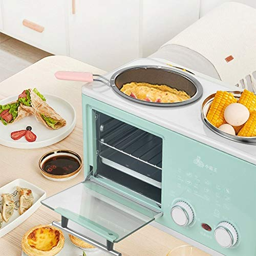 Countertop Breakfast Machine with Electric Hot Pot Omelette Pan Egg Maker Pizza Oven 2 Slice Toaster Functions - 2020 Best Breakfast Maker