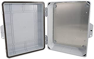 "Altelix Polycarbonate + ABS NEMA Enclosure 14x11x5 (12"" x 8"" x 4"" Inside Space) Weatherproof Tamper Resistant NEMA Box with Aluminum Equipment Mounting Plate"