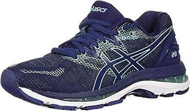 ASICS Women's Gel-Nimbus 20 Running Shoe, indigo blue/indigo blue/opal green, 7.5 Medium US