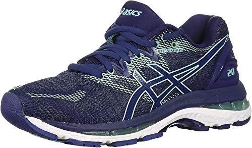 ASICS Women's Gel-Nimbus 20 Running Shoe, indigo blue/indigo blue/opal green, 9 D US