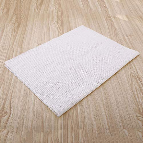 Karrychen Ultra Alfombra Antideslizante Alfombrilla Antideslizante Pinzas para Alfombrillas Protección del Piso 3 tamaños - Blanco # B