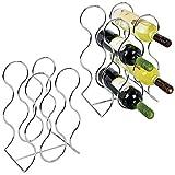 mDesign Juego de 2 botelleros para Vino para...