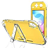 Clear Case for Nintendo Switch Lite with Kickstand, Hard Case for...