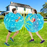 Inflatable Bubble Balls for Kids,Inflatable Buddy Bumper Balls Sumo Game,Giant Human Hamster Knocker Ball Body Zorb Ball for Child Outdoor Team Gaming Play for 6-50 Ages(2pcs 36inch) (Blue+Blue)