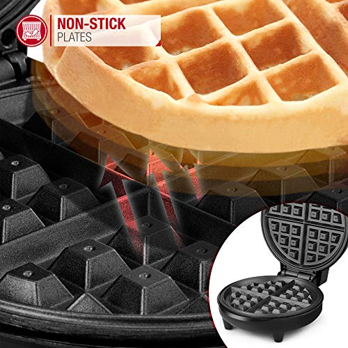 NETTA Waffle Maker Iron Machine - Non-Stick Coating | Deep Cooking Plates | Adjustable Temperature Control | Belgium American Waffle Makers - 700W
