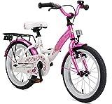 BIKESTAR Vélo Enfant pour Garcons et Filles de 4-5 Ans | Bicyclette Enfant 16 Pouces Classique avec Freins | Rose & Blanc