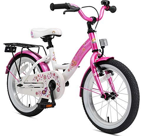 BIKESTAR Kinderfahrrad für Mädchen ab 4-5 Jahre | 16 Zoll Kinderrad Classic | Fahrrad für Kinder Pink & Weiß | Risikofrei Testen