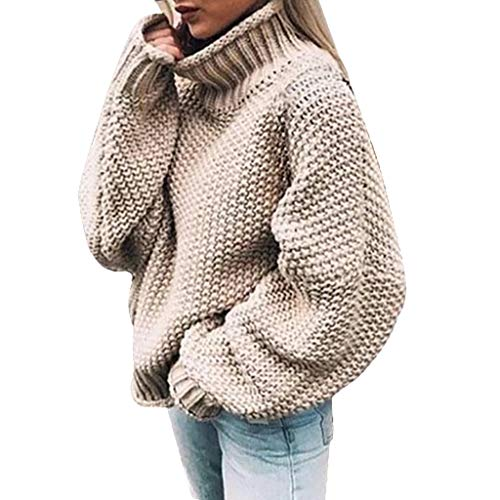 Vrouwen Losse Effen Jumper Coltrui Gebreide Trui Dames Winter Herfst Plus Size Shirts Meisjes Lange Mouw Sweater Warm Pullover Tops Blouse