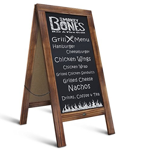 """Rustic Magnetic A-Frame Chalkboard Sign/Extra Large 40"""" x 20"""