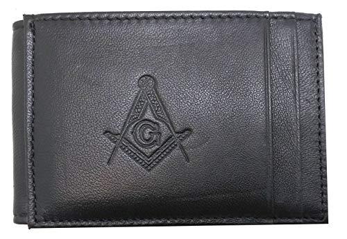 RFID Masonic Minimalist Slim Front Pocket Credit Card Holder LW-114B