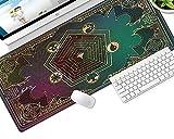 YVQLXJ Alfombrilla de Ratón Gaming Patrón mágico creativo de dibujos animados Fibra Extrafina Mouse Pad para Computadora con Base de Goma Antideslizante para Ratón con Cable o Inalámbrico PC/Mac 700x3