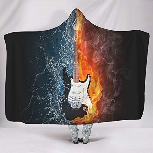 superyu Manta unisex con capucha para guitarra eléctrica en fuego y agua,...