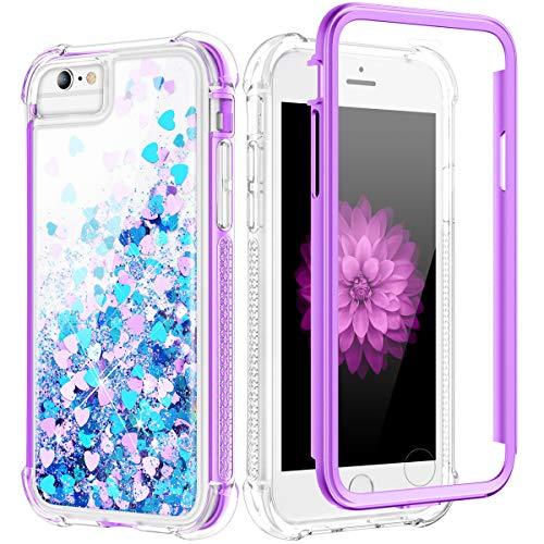 Caka Coque pour iPhone SE 2ème génération, iPhone 6 6S 7 8 Glitter ...