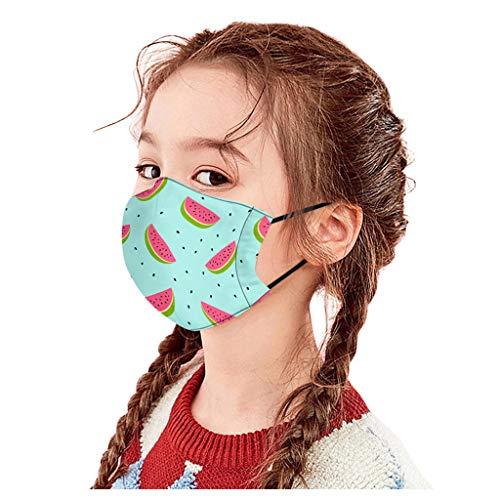 PPangUDing Mundschutz Kinder Junge Mädchen Waschbar Baumwolle mit Ventil Atmungsaktive Wiederverwendbar Waschbar Staubdicht Multifunktional Halstuch Schlauchtuch Schlauchschal