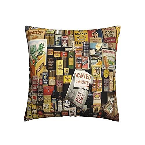 Xiaoxian Colore-Ned Food 3 Funda de almohada decorativa para el hogar, diseño de doble cara, fundas de almohada para sofá, cama, coche