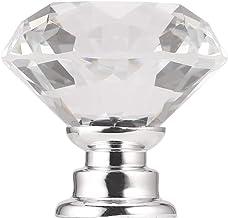 Ashley GAO Lichtgewicht 30mm Diamond Crystal Glass Legering Deur Lade Handgreep Bar Kabinet Garderobe Trek Handvat Knoppen