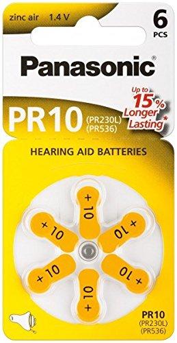 Hörgeräte Knopfzelle PR70 (PR10) Zink-Luft Batterie 1,4V (wt48830)