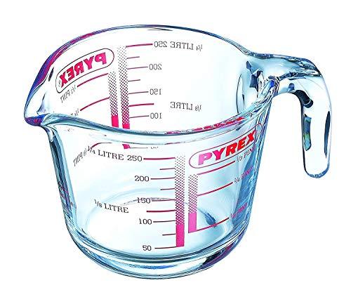 2 x Glass Measuring Jug, 250 ml - Clear