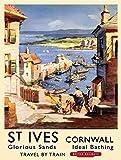 St IVES Cornwall Metallwand Zeichen Blechschilder Warnung