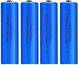 Baterías Recargables 18650 Batería de Iones de Litio 3 7V 2600mAh Capacidad Recargable baterías de Litio Células D Anillo Acumulador Linterna antorcha (Puntiaguda)-2pcs