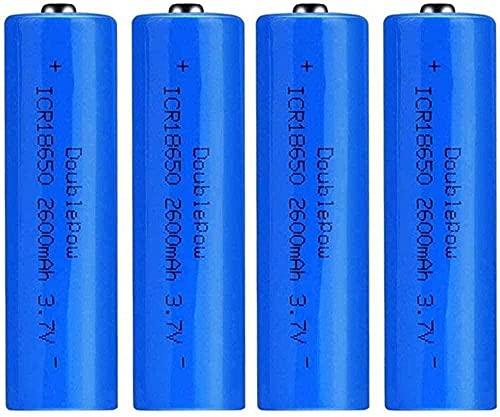 Baterías Recargables 18650 Batería de Iones de Litio 3 7V 2600mAh Capacidad Recargable baterías de Litio Células D Anillo Acumulador Linterna antorcha (Puntiaguda)-PC 1