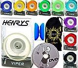 Henrys Viper YoYo Professionnel (10 Couleurs) + Apprendre Yo Yo DVD + Ficelle & Sac! Meilleures Yo-Yos Pro en Europe, idéal pour Les Enfants et Adultes! (Ice-Clair)